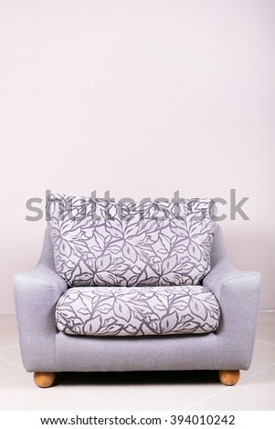 nice comfortable chair on a white background - stock photo