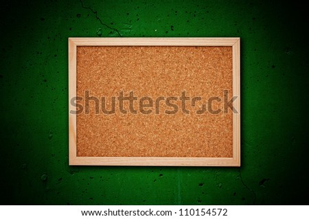 Nice cork memory board with wooden frame - stock photo