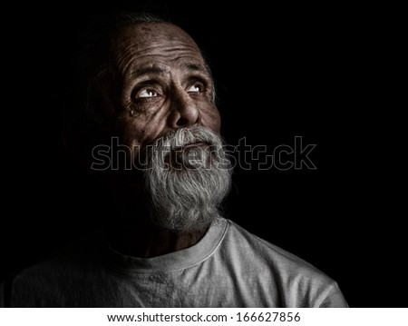 Nice emotional Image of a latino Man looking for help - stock photo