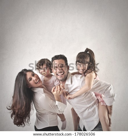 nice family - stock photo