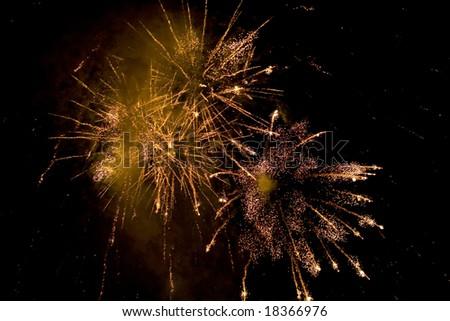 Nice fireworks. - stock photo