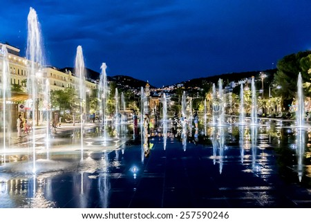 Fountains Massena Square At Stock Photos, Images, & Pictures | Shutterstock