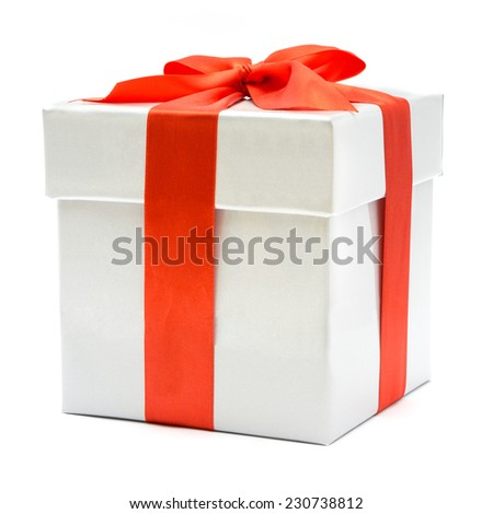 nice gift box isolated on white background