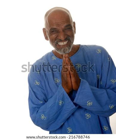 Nice Happy Healthy Image of a Yoga master - stock photo