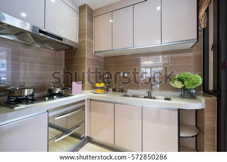 Kitchen cabinets stock images royalty free images for Nice modern kitchens