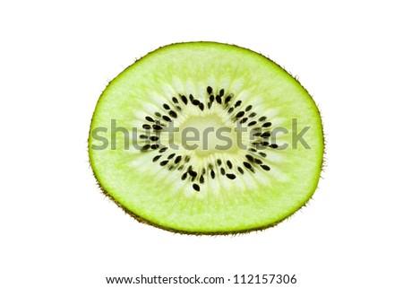 Nice kiwi on white background - stock photo