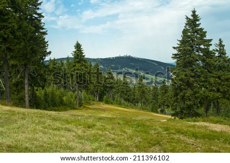 nice landscape on summery day - stock photo