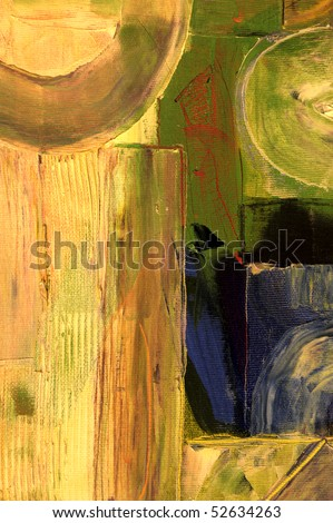 Nice large scale Abstract painting Oil On canvas - stock photo