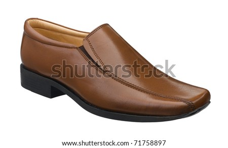 Nice leather shoe for good working day - stock photo