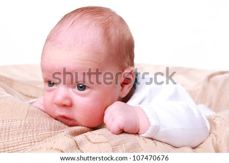nice little child on different concept themes - stock photo