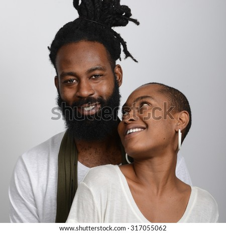 Nice Loving Image Of Lovers and best Friends - stock photo