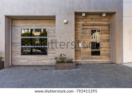 Nice Modern House Sleek Elegant Entryway Stock Photo Royalty Free