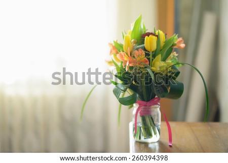 Nice Morning Pretty Flower Vase Stock Photo Royalty Free 260394398