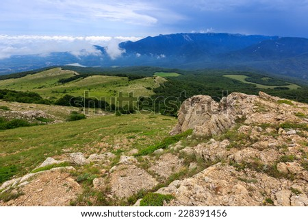Nice mountain landscape in Crimea - stock photo