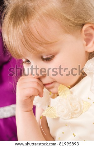 nice portrait of a cute little girl - stock photo