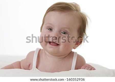 Nice portrait of baby girl smiling