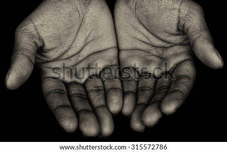 Nice Power Image of  Afro American Hands - stock photo