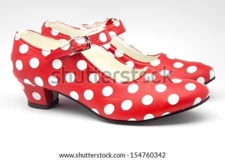 nice red shoes to dance - stock photo
