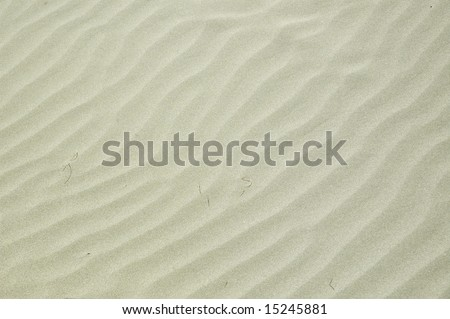 Nice sand texture on the beach. - stock photo