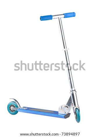 Nice scooter isolated on white background  - stock photo
