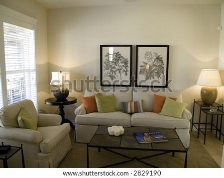 Nice sitting room - stock photo