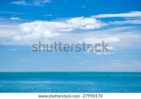 Nice sky and the sea - stock photo