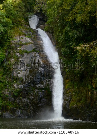 Nice small waterfall in deep forest