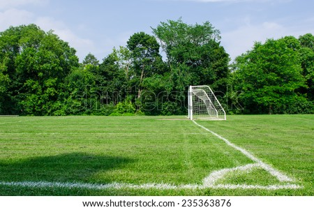 Nice Soccer Field - stock photo