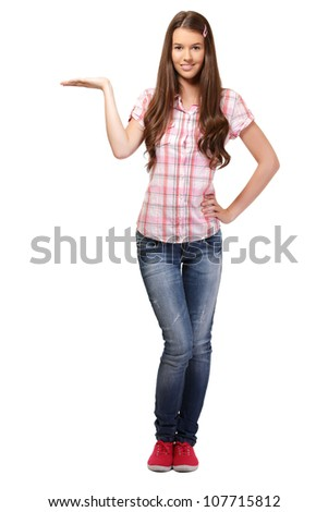 nice student isolated on white - stock photo