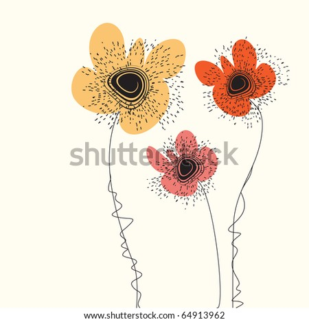 Nice stylized flowers. Screening picture, a EPS-copy in my portfolio.