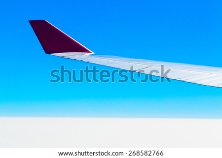 Nice view from airplane - stock photo