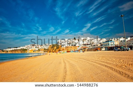 Nice view on Albufeira, Portugal  - stock photo