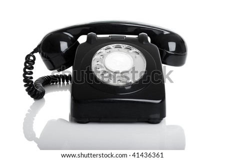Nice vintage telephone perfectly isolated over a white background