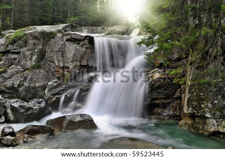 nice waterfall in Hight Tatras