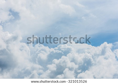 Nice white cloud on the sky - stock photo