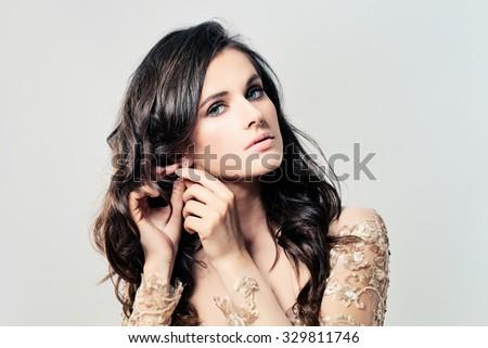 Nice Woman Fashion Model - stock photo