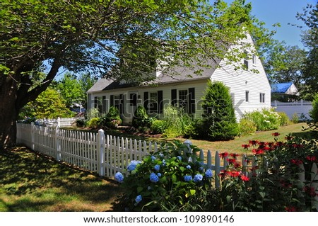 Nice Wooden houses, Ogunquit, Maine, USA - stock photo