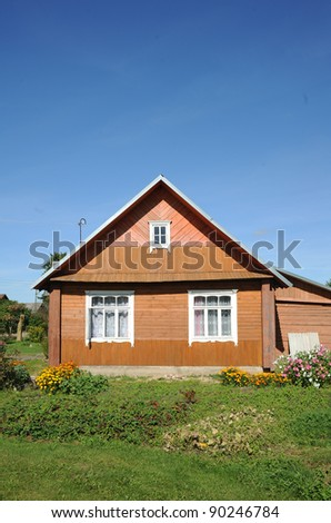 Nice wooden yellow house