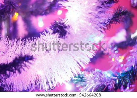 Nice Xmas Tree Lights Treechristmas Tree Stock Photo 542664208 ...