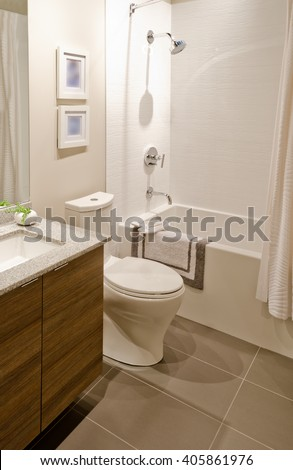 Modern bathroom photo libre de droits 126332951 shutterstock - Nicely decorated bathrooms ...