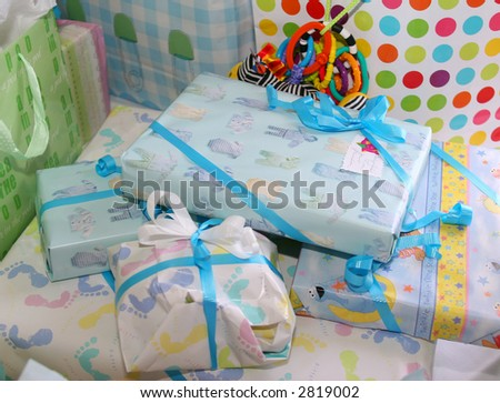 Nicely wrapped presents - stock photo