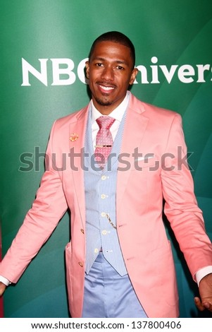 Nick Cannon at the 2013 NBC Universal Summer Press Day , Langham Huntington Hotel, Pasadena, CA 04-22-13 - stock photo