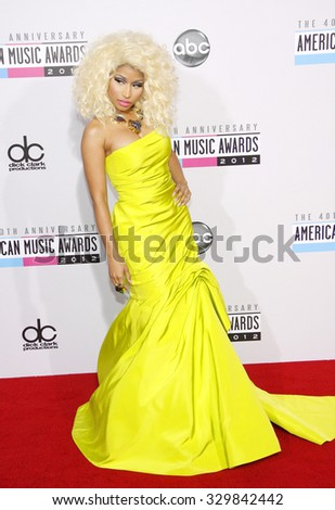 Nicki Minaj at the 40th American Music Awards held at the Nokia Theatre L.A. Live in Los Angeles, USA on November 18, 2012. - stock photo