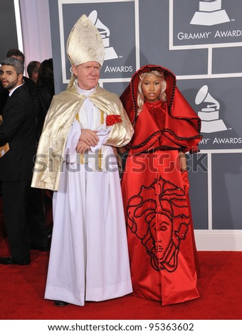 Nicki Minaj at the 54th Annual Grammy Awards at the Staples Centre, Los Angeles. February 12, 2012  Los Angeles, CA Picture: Paul Smith / Featureflash - stock photo