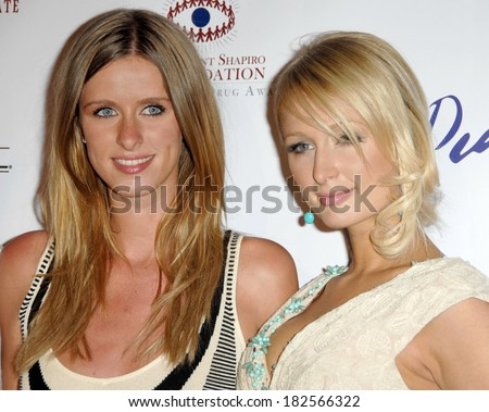 Nicky Hilton, Paris Hilton at The Brent Shapiro Foundation for Alcohol and Drug Awareness Sober Day Dinner and Benefit, private residence, Beverly Hills,, May 17, 2008 - stock photo
