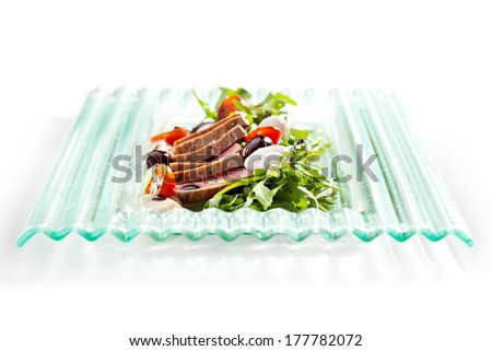 Nicoise with Tuna and Vegetables - stock photo