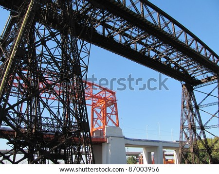 Nicolás Avellaneda Steel Bridges - stock photo
