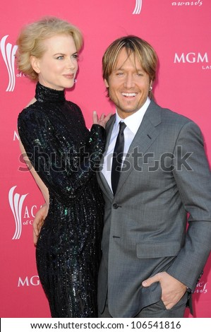 Nicole Kidman and Keith Urban  at the 44th Annual Academy of Country Music Awards. MGM Grand Garden Arena, Las Vegas, NV. 04-05-09