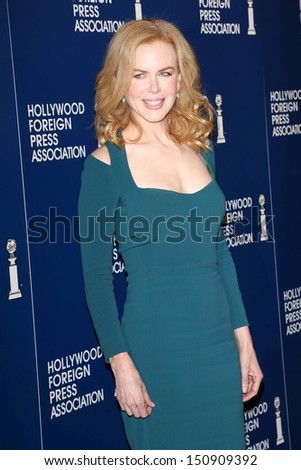 Nicole Kidman at the Hollywood Foreign Press Association's 2013 Installation Luncheon, Beverly Hilton, Beverly Hills, CA 08-13-13 - stock photo