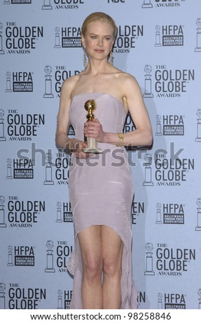 NICOLE KIDMAN at the 60th Annual Golden Globe Awards at the Beverly Hills Hilton. 19JAN2003.  Paul Smith / Featureflash - stock photo